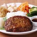 料理メニュー写真和風ハンバーグDish(ライス付き&お惣菜4品付き)