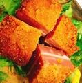 料理メニュー写真厚切りダブルチーズハムカツ