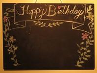 誕生日/送別会/イベントに♪ボードとケーキでWお祝い☆