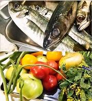 鎌倉の産直野菜や、能登漁港直送の厳選旬の食材をご提供