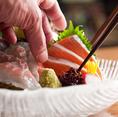 北海道産のほっけやほたてなど、鮮魚を美味しくお召し上がりいただけるよう「素材から始まる美味しさを、真心のおもてなしで」をモットーに、皆様をお待ちしております。刺身は単品・盛り合わせ各種ご用意しております。