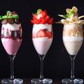 料理メニュー写真3種のスムージーパフェ