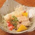 料理メニュー写真エビの天ぷら特製マヨネーズ和え