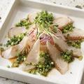 料理メニュー写真炙り真鯛柚子ポン酢