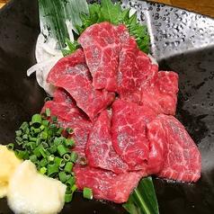 料理メニュー写真馬刺(赤身/霜降)