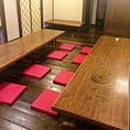 2Fには各種宴会に◎の座敷席をご用意致しております。35名前後まで対応可能ですので、お気軽にご相談ください。