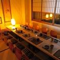 ゆったりと優雅な時間をお過ごしいただけるこちらのお席は、秋田での飲み会、宴会の席をワンランク上に演出してくれます。飲み会、宴会、接待、歓送迎会など、各種宴会に是非ご利用ください。
