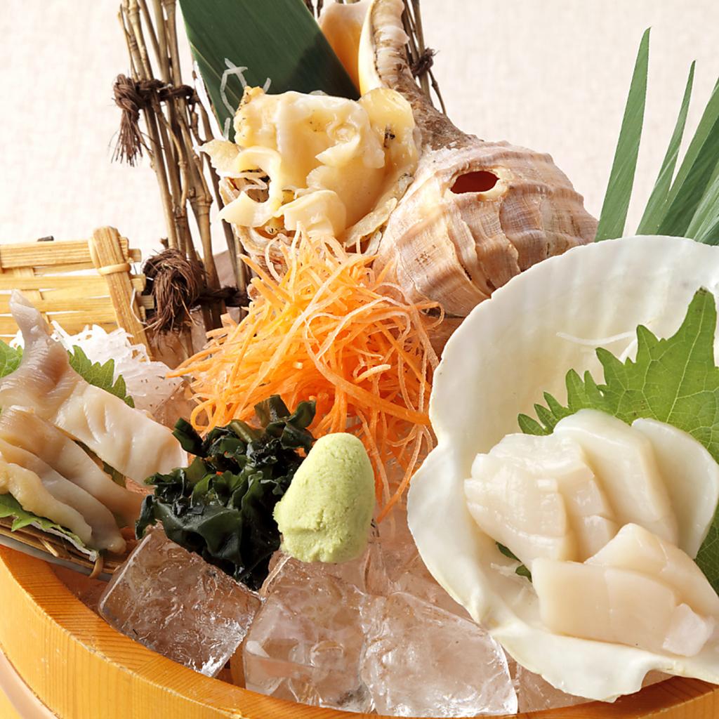 北海道の粋な貝を盛り合わせ♪