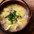 料理メニュー写真コラーゲンスープの鶏雑炊