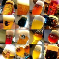 ヨーロッパを中心とした海外のビールが常時100種類以上