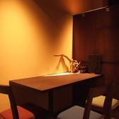 テーブルのモダン個室♪