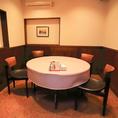 PTAの集まりやご宴会にもピッタリな、円卓のお席。広々とお座りいただけます♪店舗前に駐車場を完備しておりますので、待ち合わせや解散の際にも便利です!