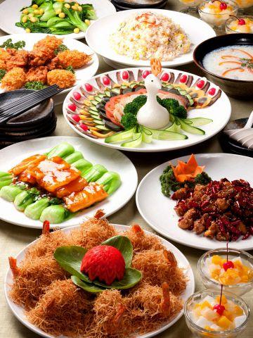 各種宴会におすすめの鮮やか本格四川中華コースは3000円~ご用意しております。