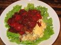 料理メニュー写真とりトマ丼