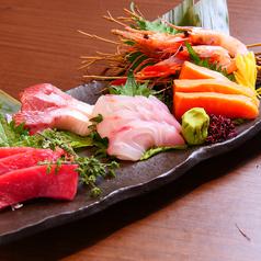 旬魚のお創り5種盛り