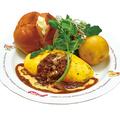 料理メニュー写真KUKUきのことチーズのごちそうシチューオムライス