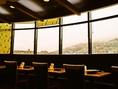 眺めのいい窓際は生駒山も見えます。