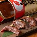 料理メニュー写真神戸牛の炙り握り寿司