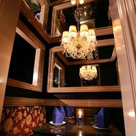 幻想的な個室が全15室!