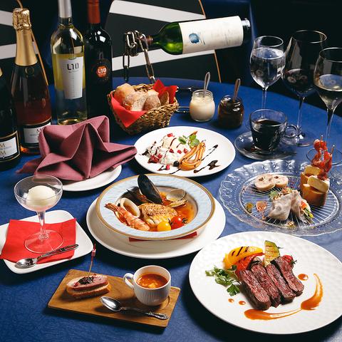 1皿ごと供します。記念日やデート接待にお薦め ≪スペインが薫る、シェフ特製フルコース≫