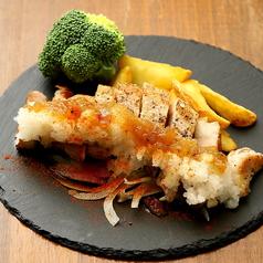料理メニュー写真厚切り豚バラステーキ