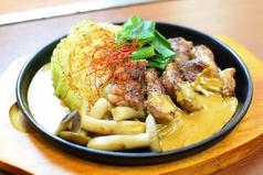 牛カルビと京野菜の鉄板焼き~坦々ソースで~