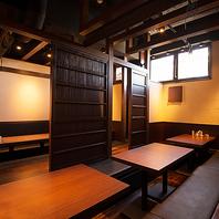 ゆったり個室もあります。お座敷は最大40名様まで可能!