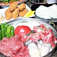 渋谷2分 2組限定!牡蠣と黒毛和牛のトマトすき焼きコース
