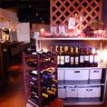 雰囲気抜群の空間でワインとお肉料理を…