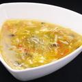 料理メニュー写真えび味噌入れのスープ