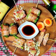 料理メニュー写真ベジ豚ぐる串のおまかせ盛り(5種)