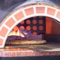 石窯で焼く手造りPizza♪