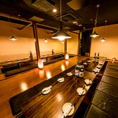 貸切宴会は最大100名様まで収容可能◎他のお客様を全く気にせず、広々店内で楽しいひと時を過ごしませんか?