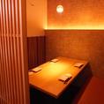 ◆プライベートな空間◆掘りごたつ付きの個室空間で、誰にも邪魔されない至福のひとときをお過ごしください。雰囲気のある和風な個室でまったりとお酒をご堪能ください。女子会や合コン、デートにも安心してご利用いただけるモダンな店内が人気です。