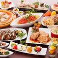 メインやサラダ、フェア限定メニュー、デザートまで種類豊富のお料理をご用意♪※画像は一例です