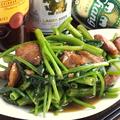 料理メニュー写真空芯菜と豚肩ロースの辛味噌炒め