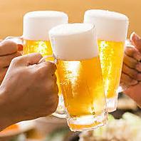 生ビール&生搾り含む全80種90分飲み放題1080円(税抜)