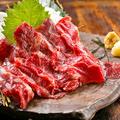 料理メニュー写真【トロける食感「外バラ」使用】 熊本直送 大トロ馬刺し