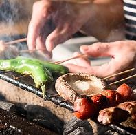 洞爺湖で誕生した職人の『炉』で焼くパリっと串180円~