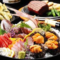 旬の海鮮をはじめ肉・野菜料理など季節で替わるコース!