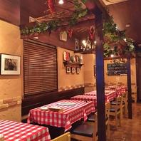 テーマは『イタリア田舎町の食堂』