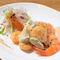 料理メニュー写真海老とアボガドのオリエンタルマヨネーズ和え