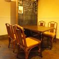4名様用のテーブル席♪