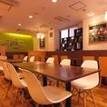 カフェのような落ち着いた空間は、各種宴会やイベントにも人気です!