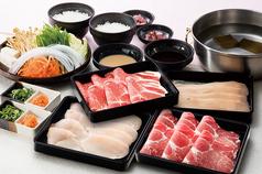 料理メニュー写真豚・鶏コース※サラダ&惣菜バー付きは2390円(税抜)