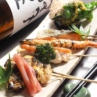 約50種類の串焼は定番から変わり種まで