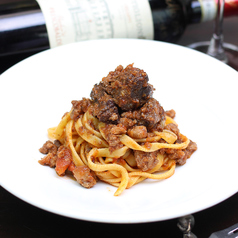 Fettuccini,Bolognese sauce with beef tail