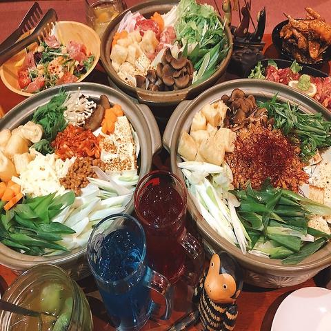 寒い冬には鍋☆全3種から選べる鍋+全35品から選べる6品♪120分飲み放付き40000円