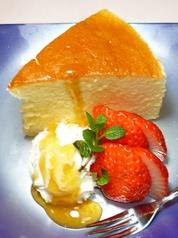 生キャラメルクランチソフト/手作りチーズケーキフルーツ添え