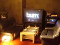 VIP個室にはDVDモニターあり